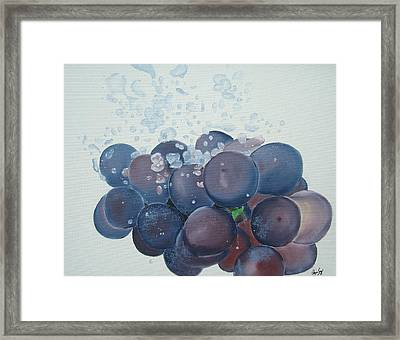 Grapes In Water Framed Print by Angela Melendez