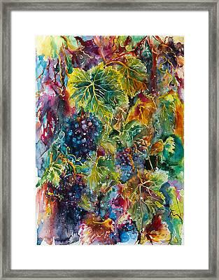 Grapes Framed Print by Kovacs Anna Brigitta