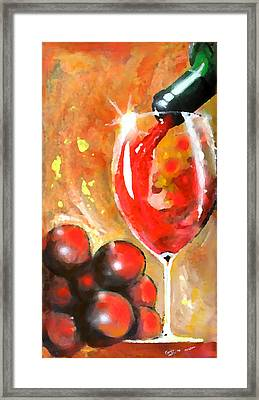 Grapes Framed Print by Marcello Cicchini
