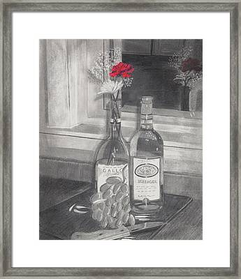 Grapes N Flowers Framed Print