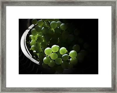Grapes And Silver Framed Print by Rae Ann  M Garrett