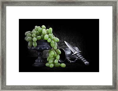 Grapes Of Wrath Still Life Framed Print by Tom Mc Nemar