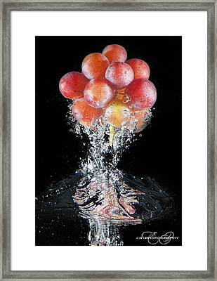 Grapes Splash Framed Print