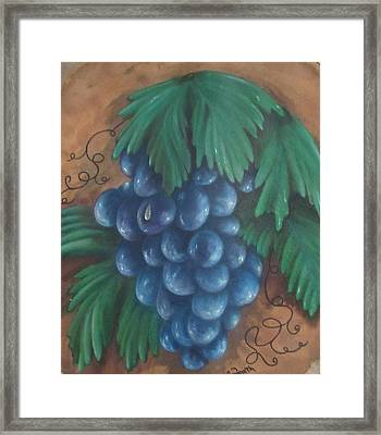 Grapes With Dewdrop Framed Print