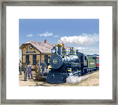 Old Grapevine Train Station Texas - Vintage - Old Framed Print by Walt Curlee