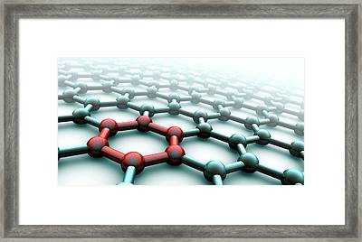 Graphene Framed Print by Animate4.com/science Photo Libary