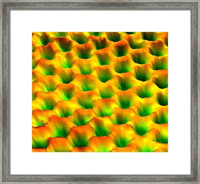 Graphene Lattice Framed Print