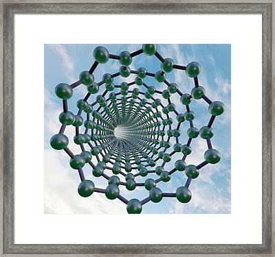 Graphene Nanotube Framed Print