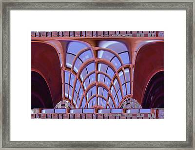 Graphic Architectural Presentations For Exterior And Interior Of Building Structures In The Urban La Framed Print