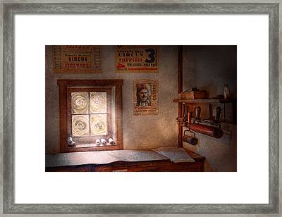 Graphic Artist - The Life Of A Proofer  Framed Print by Mike Savad
