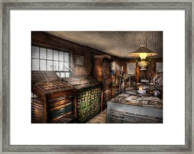 Graphic Artist - Upper And Lower Case  Framed Print