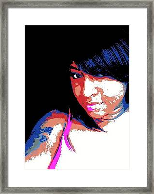 Framed Print featuring the photograph Graphic Girl by Gayle Price Thomas