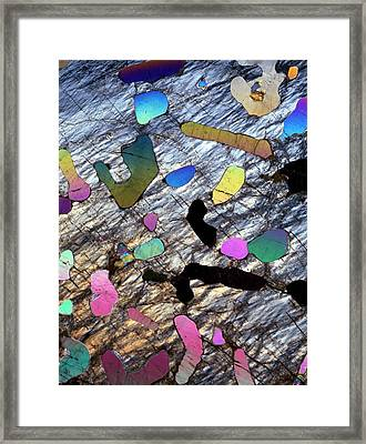 Graphic Granite In Thin Section Framed Print by Dirk Wiersma