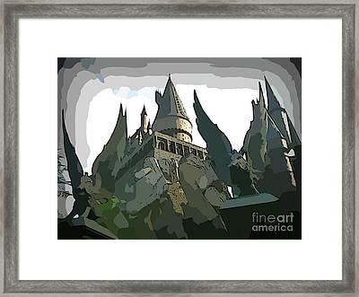Graphic Hogwarts Castle Framed Print