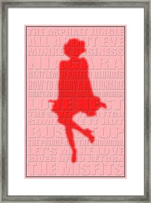 Graphic Marilyn Monroe 2 Framed Print by Andrew Fare