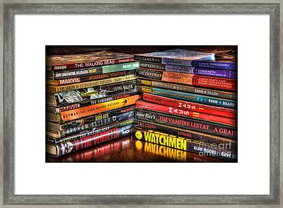 Graphic Novels  Framed Print by Lee Dos Santos