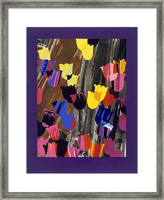 Graphic Wallpaper Print, Design Framed Print by Edouard Benedictus