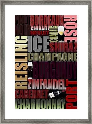 Graphic Wine 2 Framed Print