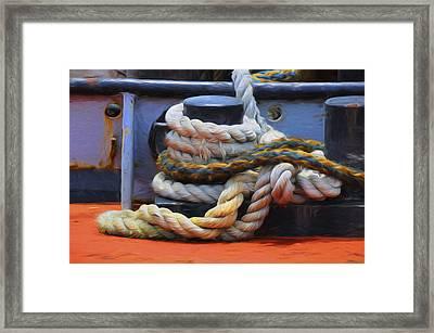 Grasping At Ropes Framed Print