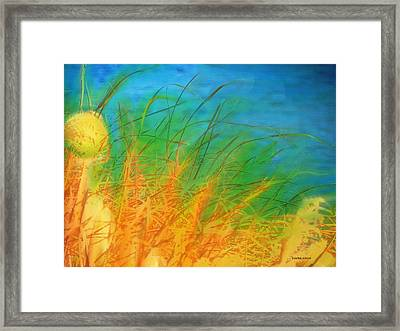 Grass Along The River Framed Print