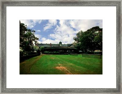 Grass Courts At The Hall Of Fame Framed Print by Michelle Calkins
