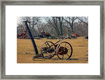 Farming Equipment  Framed Print by Jon Baldwin  Art