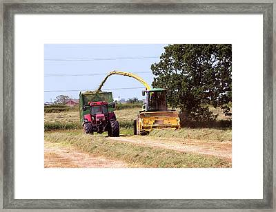 Grass Cutting Framed Print by Simon Booth