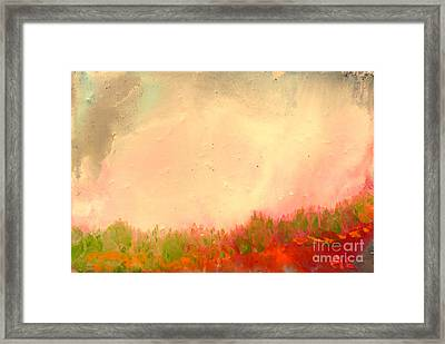 Grass Fire Framed Print
