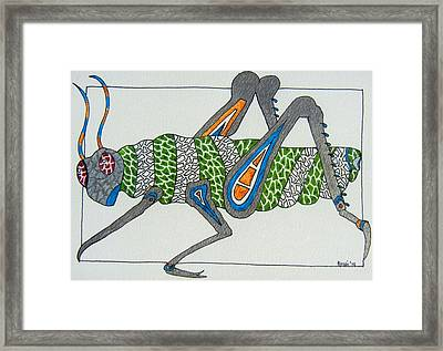 Grass Hopper I Framed Print by Kruti Shah