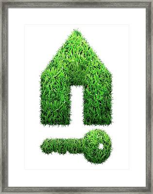 Grass House And Key Framed Print by Victor Habbick Visions