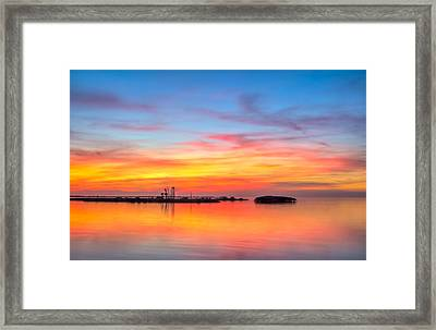 Grass Islands Of The Gulf Framed Print