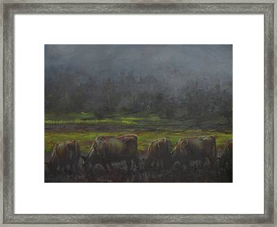 Grass It's What's For Dinner Framed Print by Mia DeLode