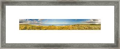 Grass On The Beach, Horsey Beach Framed Print by Panoramic Images