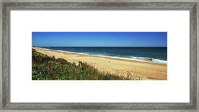 Grass On The Beach, Montauk Point Framed Print by Panoramic Images