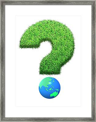 Grass Question Mark Framed Print by Victor Habbick Visions