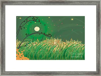 Grasses In The Wind Framed Print by Kim Prowse