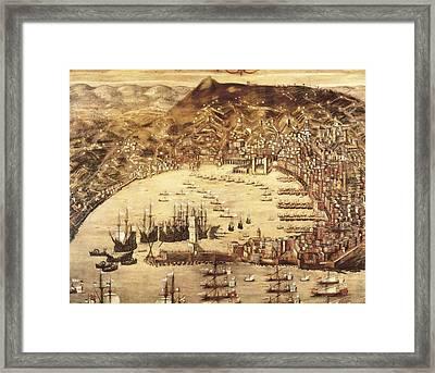 Grassi, Cristoforo 16th C.. Port Framed Print by Everett
