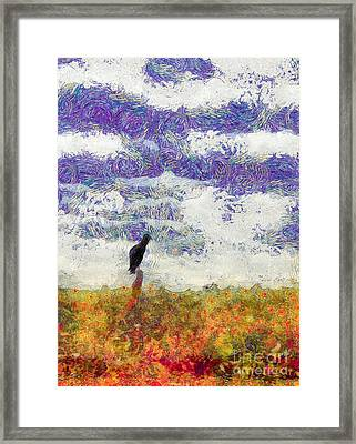 Grassland Sentry Framed Print