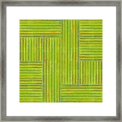 Grassy Green Stripes Framed Print by Michelle Calkins