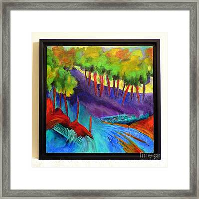 Grate Mountain Framed Print by Elizabeth Fontaine-Barr