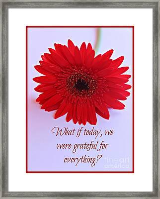 Grateful Framed Print