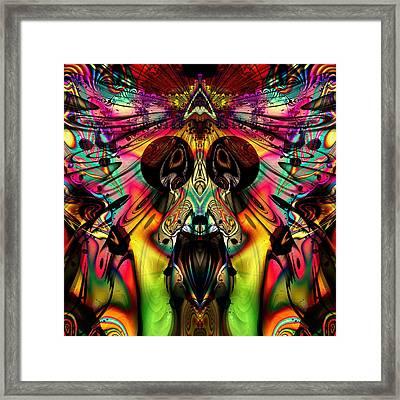 Grateful Desert Skull Framed Print