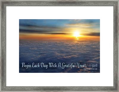 Grateful Heart Framed Print