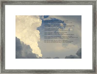 Grateful Skies Framed Print by David  Norman
