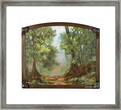 Gratifying Exploring With Gold Leaf By Vic Mastis Framed Print