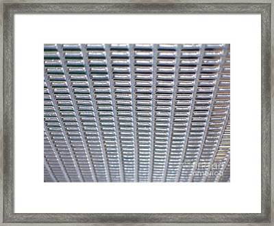 Grating Framed Print