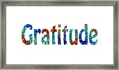 Gratitude 1 - Inspirational Art Framed Print by Sharon Cummings