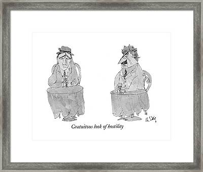 Gratuitous Look Of Hostility Framed Print