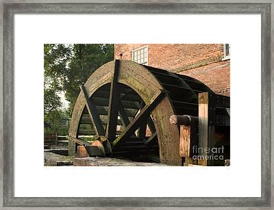 Graue Mill Water Wheel Framed Print by Glenn Morimoto