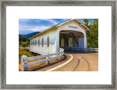 Grave Creek Bridge Framed Print